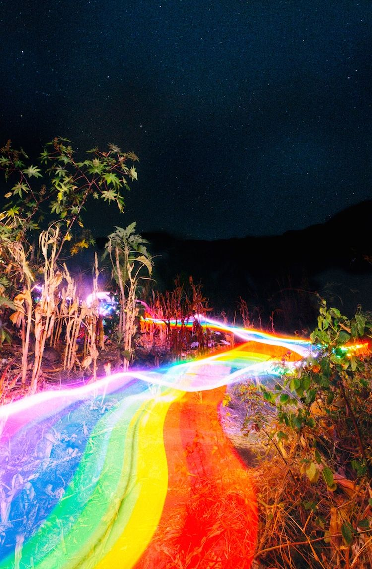 Vibrant Rainbow Roads Illuminate Forests And River Bends Into Magical Landscapes With Images Rainbow Photography Rainbow Road Long Exposure Photos