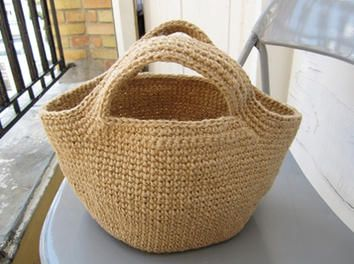 sac en ficelle de jute au crochet par bricotine sur le cdb couture pinterest ficelle. Black Bedroom Furniture Sets. Home Design Ideas