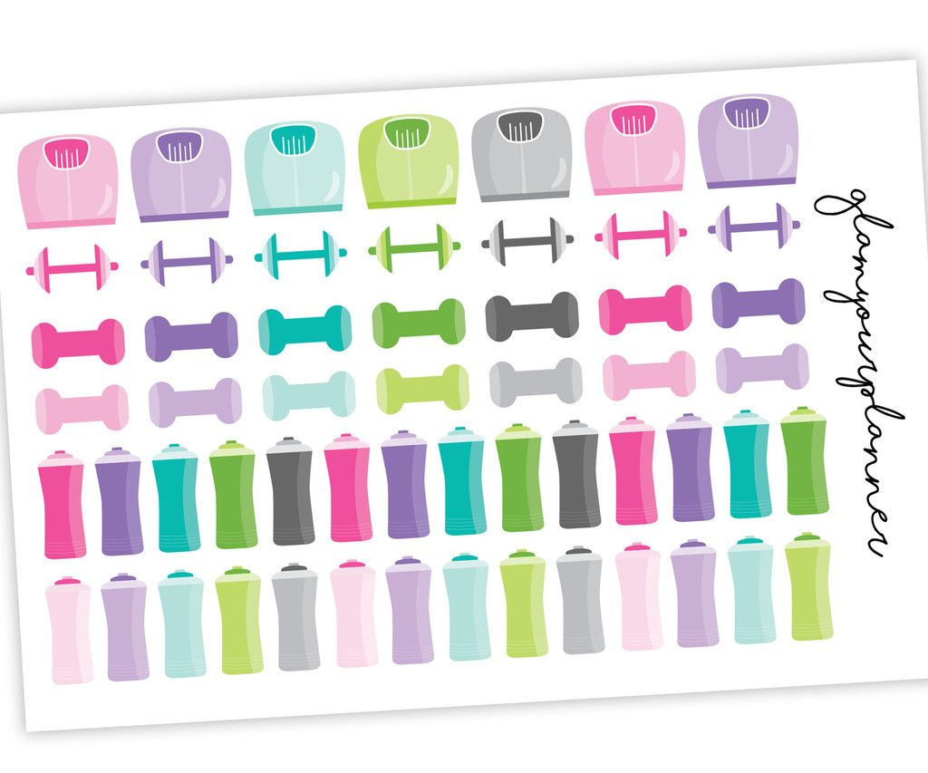 Fitness Stickers Workout Planner Stickers Variety Pack Planner