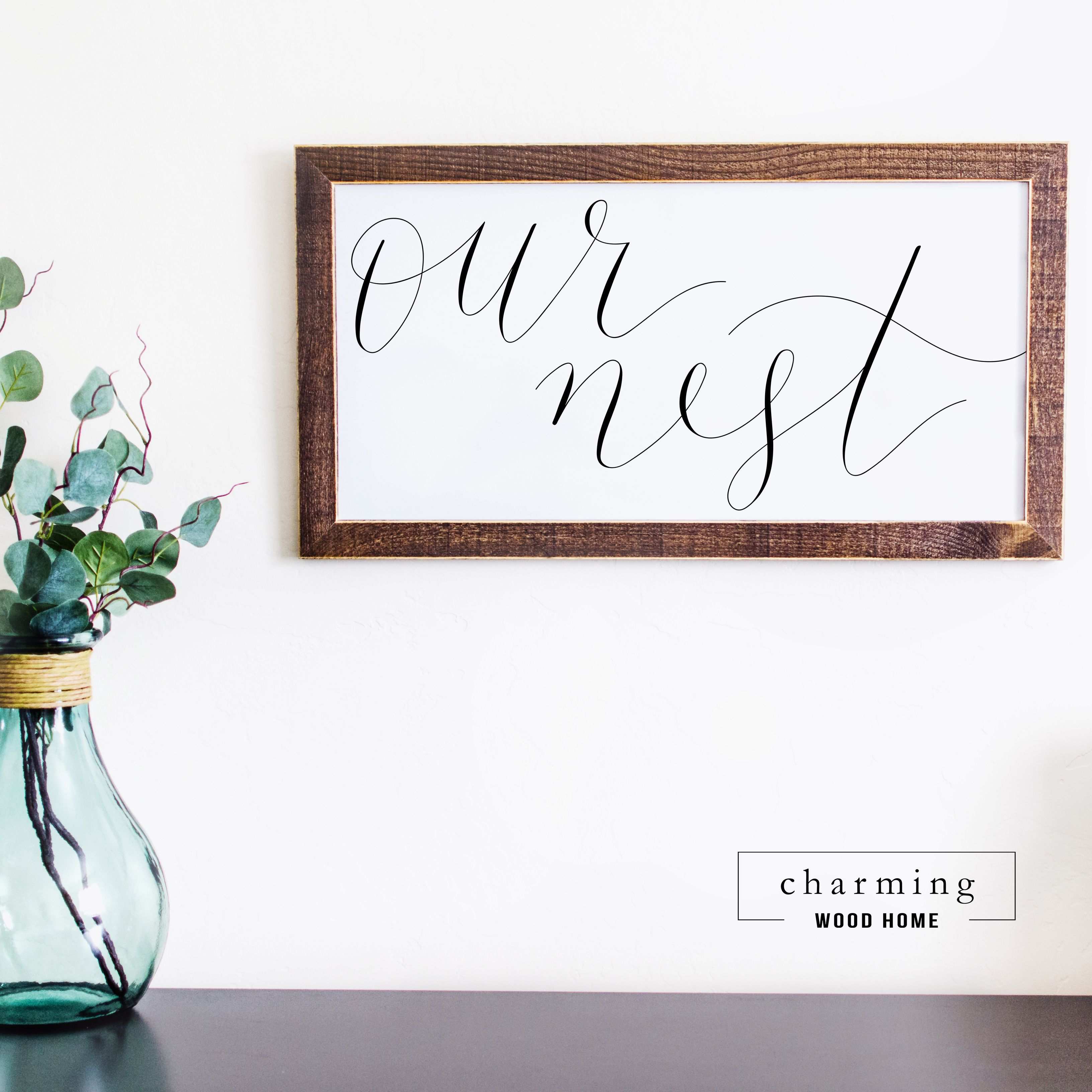 This cute calligraphy farmhouse sign would look perfect in