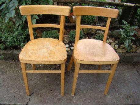 Paire de chaises bistrot st BAUMANN anciennes