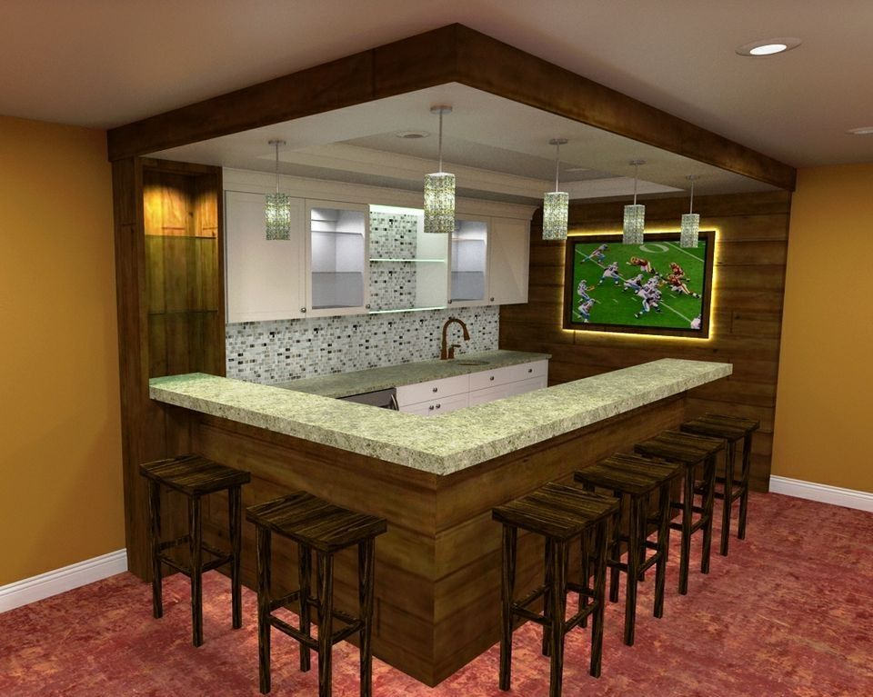 With All The Options On That One It's Easy To Understand Why Custom Bar In Basement Ideas