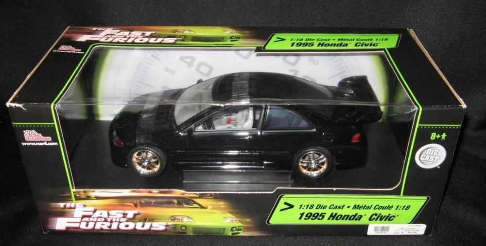 The Fast And The Furious This Cool Model Features A 1995 Honda Civic In Black The Car Is Die Cast And 1 18 Scale It Is A Racing Cha Honda Civic Civic Honda