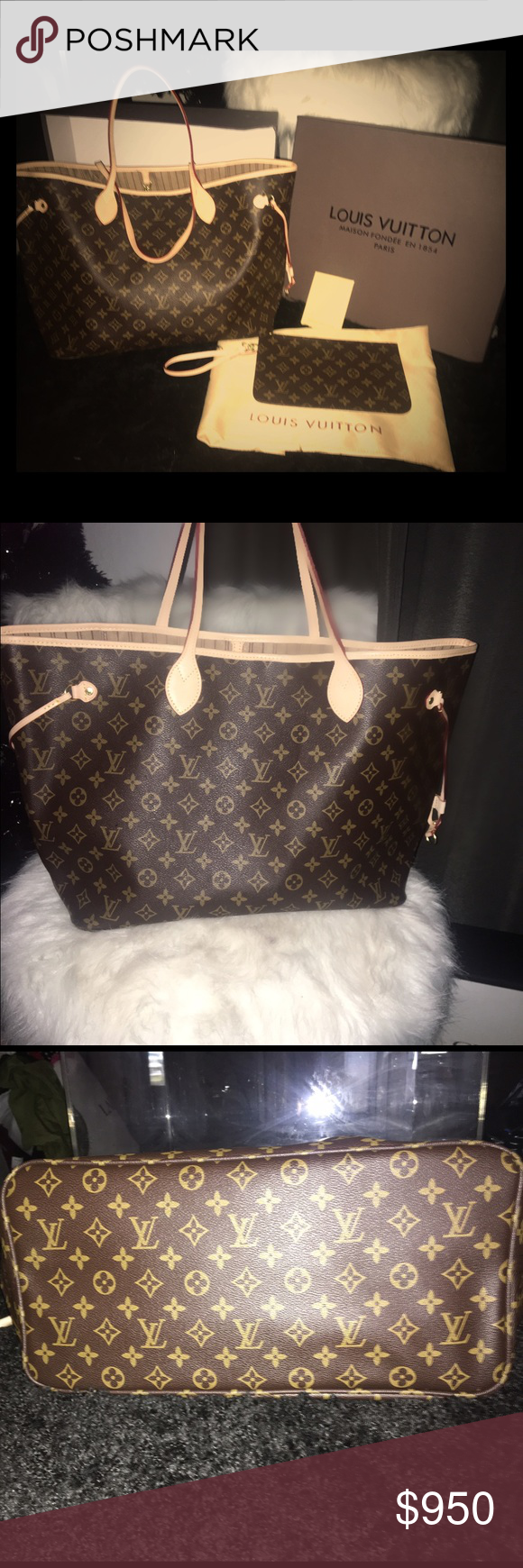 Louis Vuitton Neverfull GM Gorgeous Louis Vuitton Neverfull GM. Huge and big enough to throw in all your necessities and go. This is definitely an every day bag. In great condition. Includes box and dust bag. Louis Vuitton Bags Totes