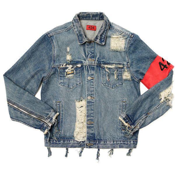 c65eda773 Tyga Wears 424 Denim Jacket
