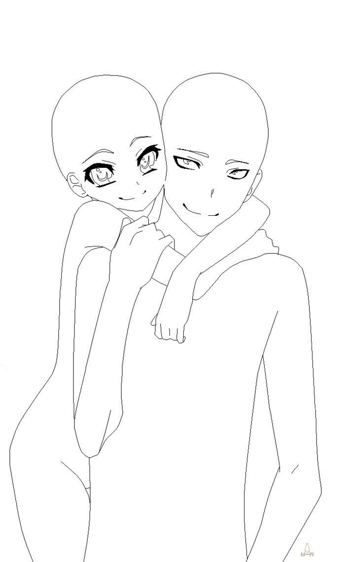 Drawing baces base 14 by milkie moo art base anime base couple