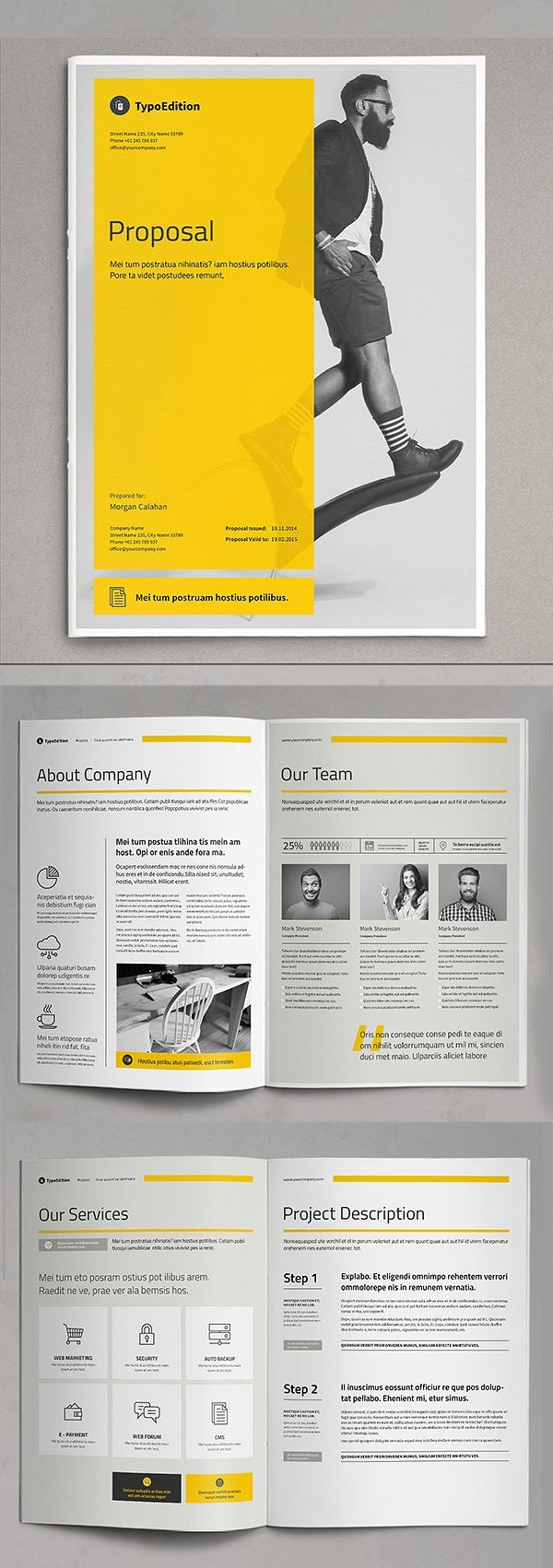 Professional Business Proposal Templates Design 3