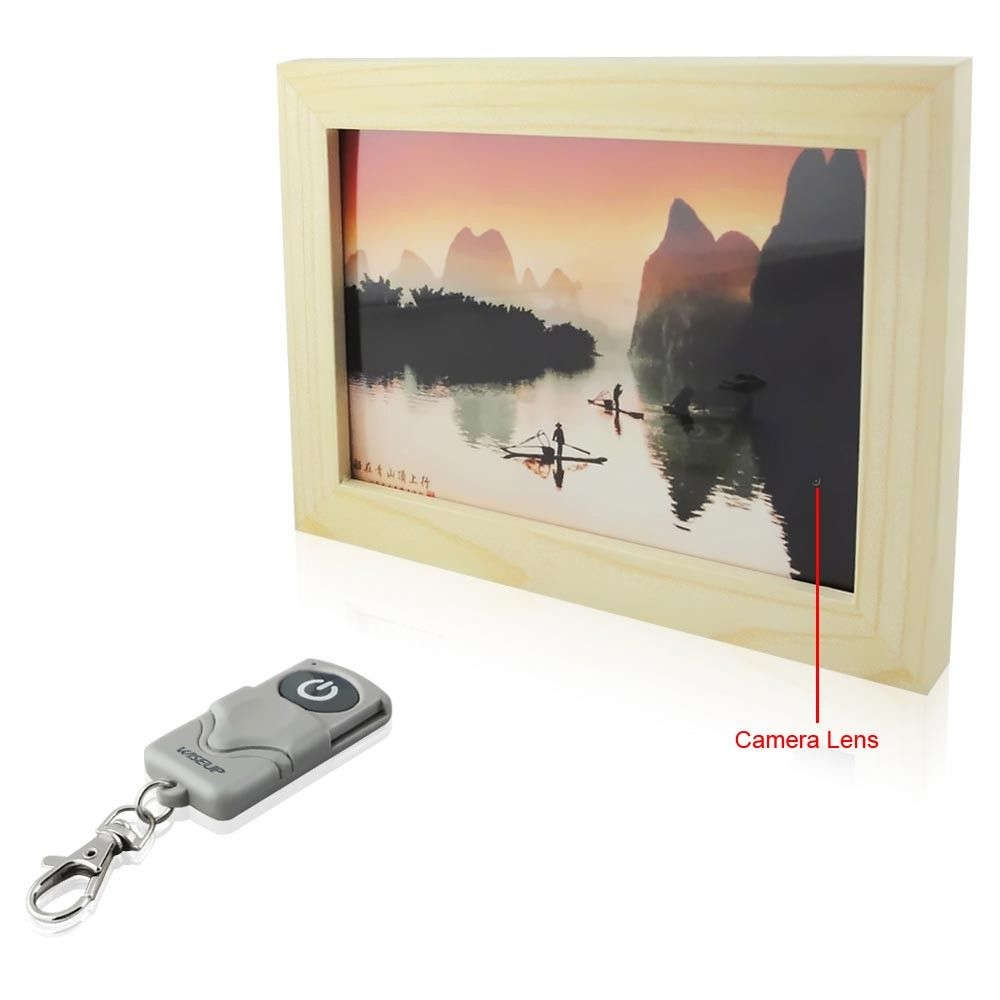 Wiseup 4GB Picture Frame Hidden Camera with AV Recording Function ...