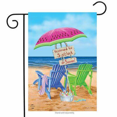 Briarwood Lane Beach Bum 2 Sided Polyester 1 6 X 1 1 Ft Garden