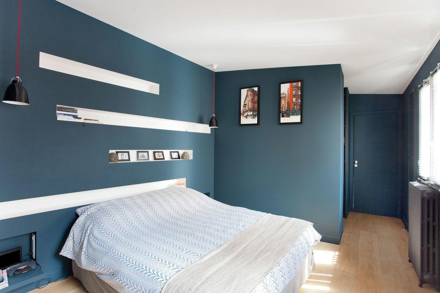 Peinture Chambre Bleu Maison Design Apsip Com Avec Chambre