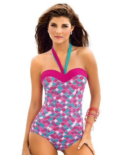 f0e4ad87aa Leonisa Flattering Strapless One Piece Bathing Suit with Tummy Control-Pink