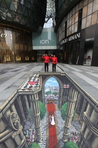 #Wasabi3D | #3DStreetArt | Experiential Social Media | Westminster Royal Wedding#3dstreetart #experiential #media #royal #social #wasabi3d #wedding #westminster
