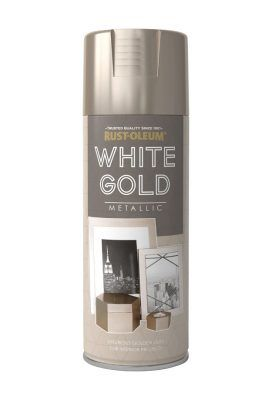 White Gold Spray Paint From Rust Oleum A Premium Quality Scratch Resistant Finish That Allows You To Create Sophisticated Metallic On