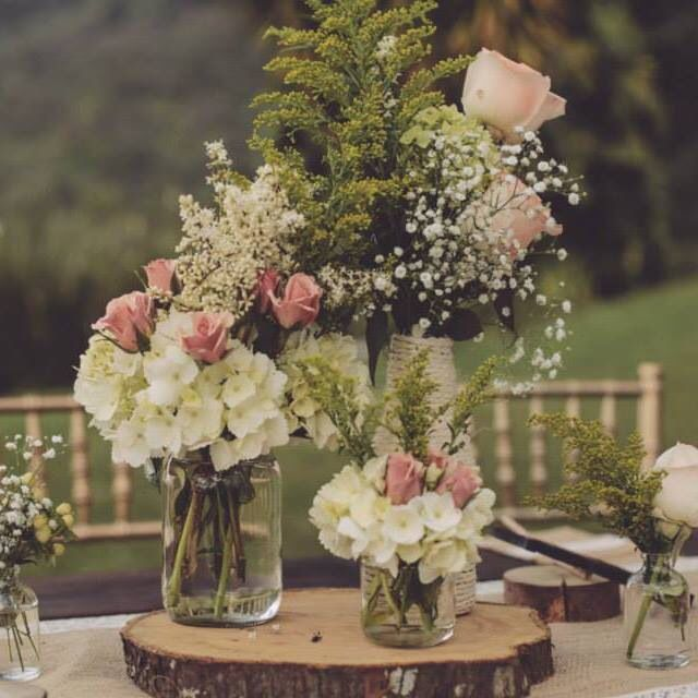 Centro de mesa r stico todo bodas pinterest arranjos - Centro de mesa rustico ...