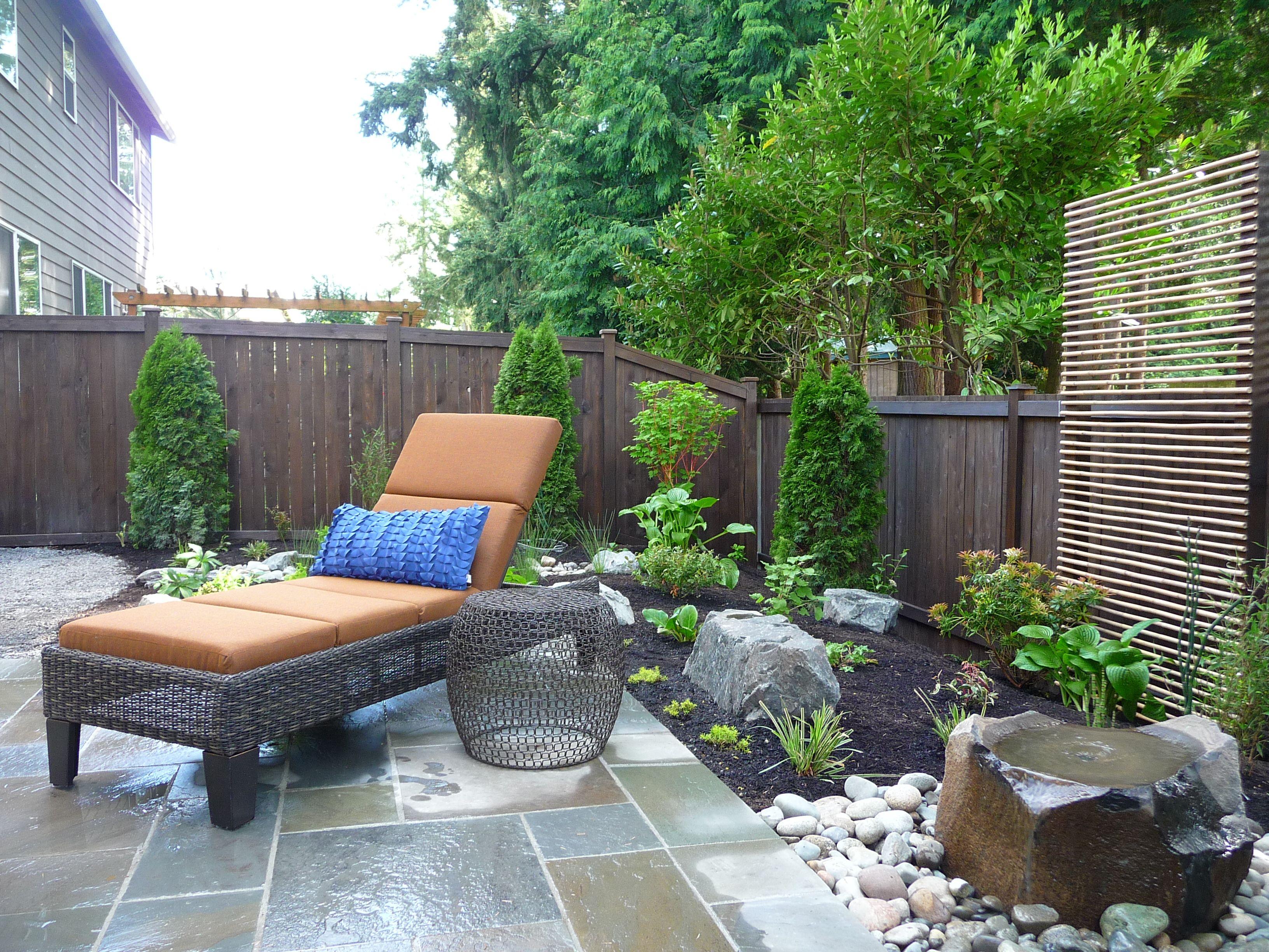 Zen backyard  Small backyard, Backyard patio designs, Backyard