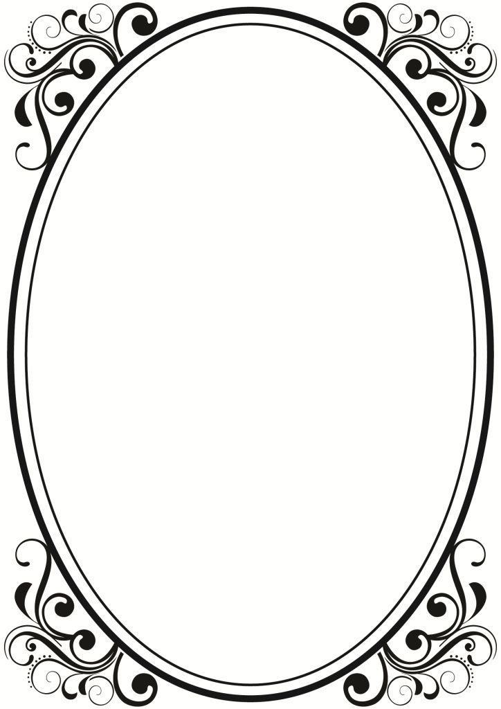 oval border designs | Black Filigree Border | Logo Ideas ...