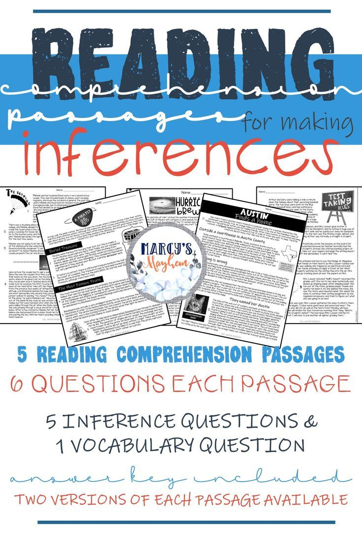 Reading Comprehension Passages 4th grade and 5th grade