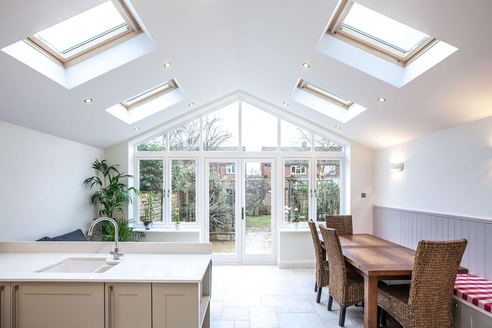 kitchen extension roof designs a single storey kitchen extension by l amp e lofts and 4747