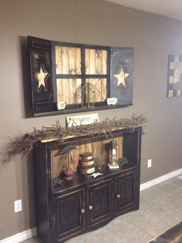Primitive Country Living Room Decorating Ideas: Pin By Danielle Barger On For The Home