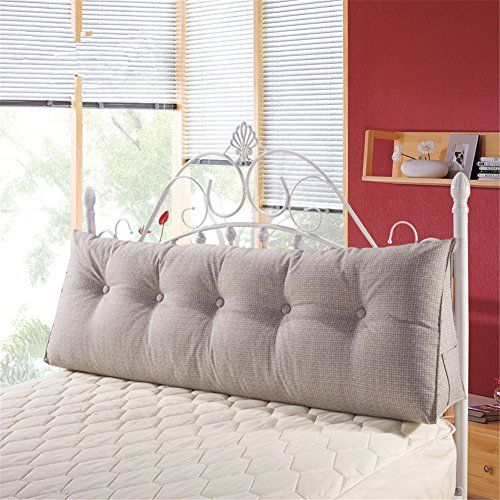 """VClife Cotton Linen Filled Triangular Wedge Cushion Bed - comes in 71"""" length. convert twin bed into sofa $116"""
