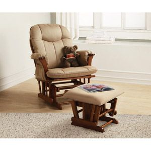 Baby Relax Deluxe Glider Rocker And Ottoman Walnut I Have