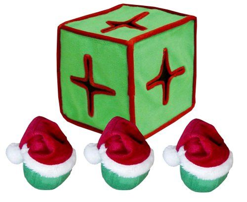 $13.59 Christmas IQube will not only keep pets occupied and eliminate boredom, but will also develop a dogs intelligence and puzzle solving skills. Just insert the santa balls inside the toy for dogs to remove over and over again.