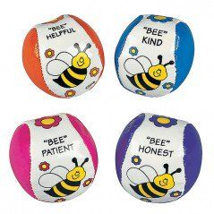 """Bee"" Your Best Kick Balls (12 Pack)  https://www.discountpartysupplies.com/boy-party-supplies/bee-party-supplies"