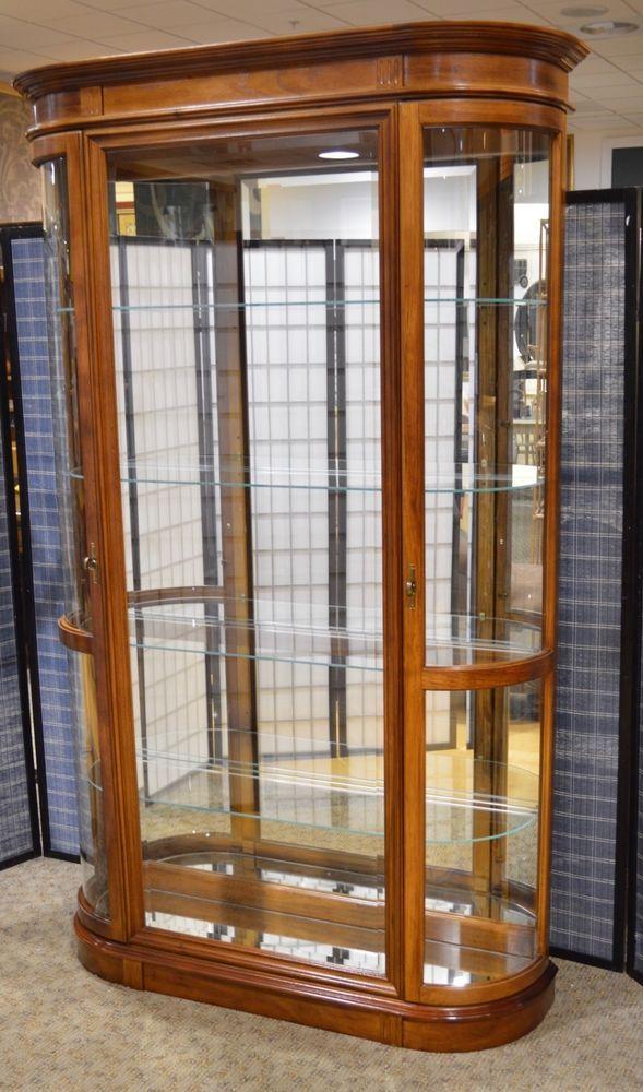 Pulaski 2 Door Curio Cabinet W Bow Glass Doors Glass Door Curio Cabinet Glass