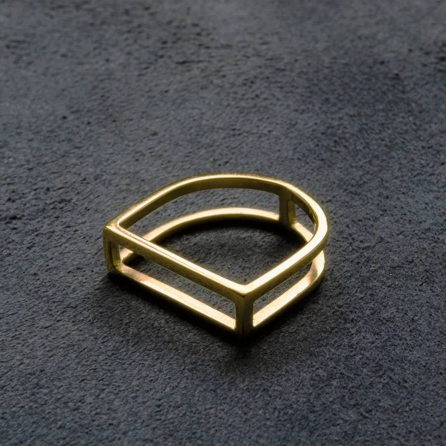 Geometric Gold Ring #dotshopsave