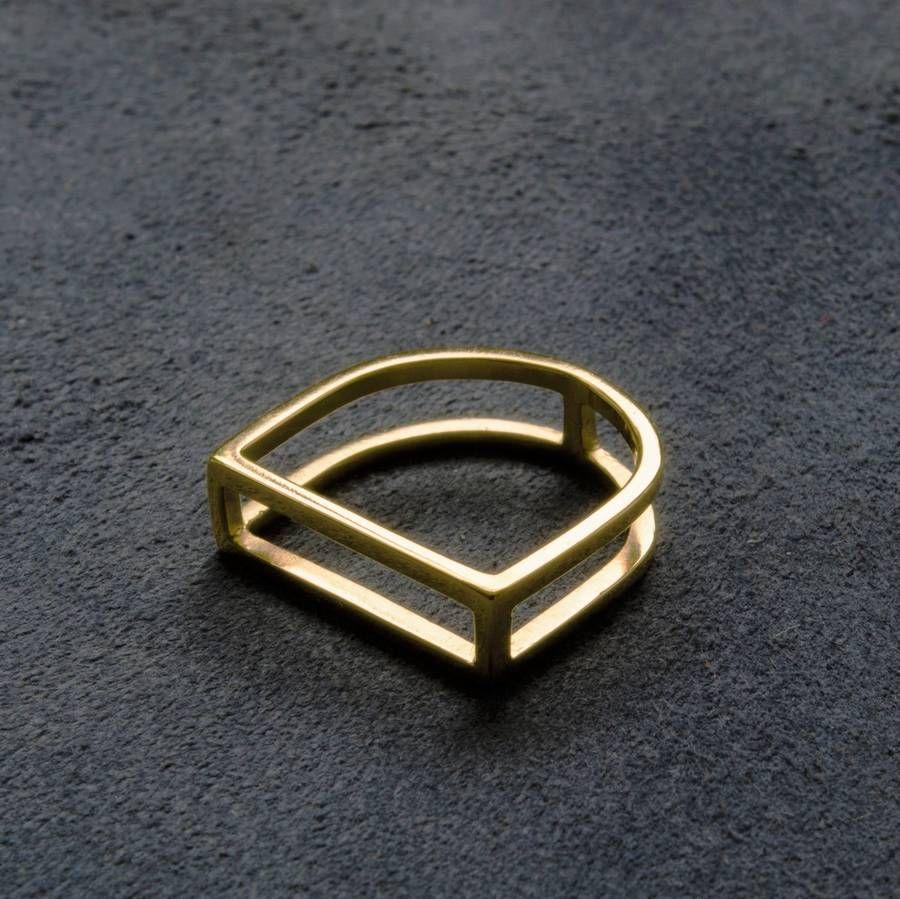 Geometric Gold Ring #dotshopsave
