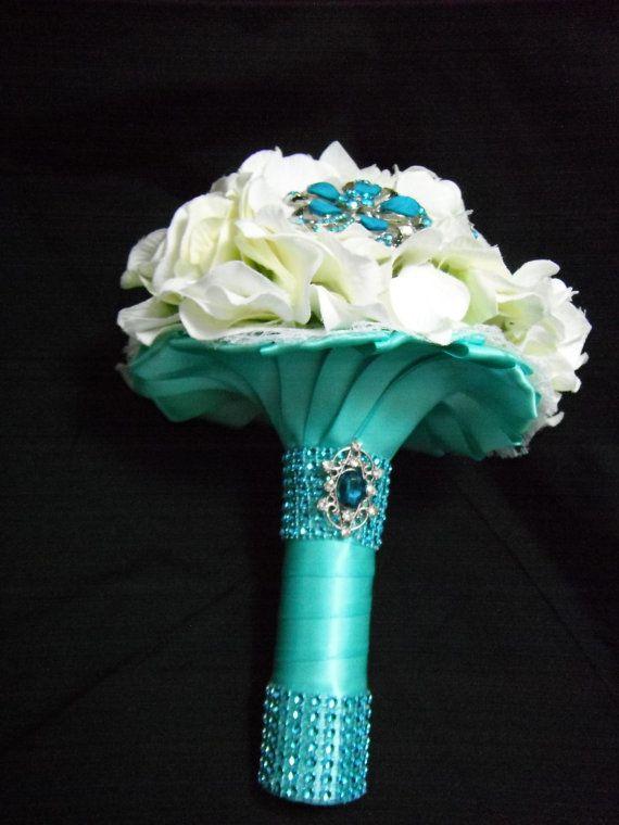 Bouquet con base turquesa
