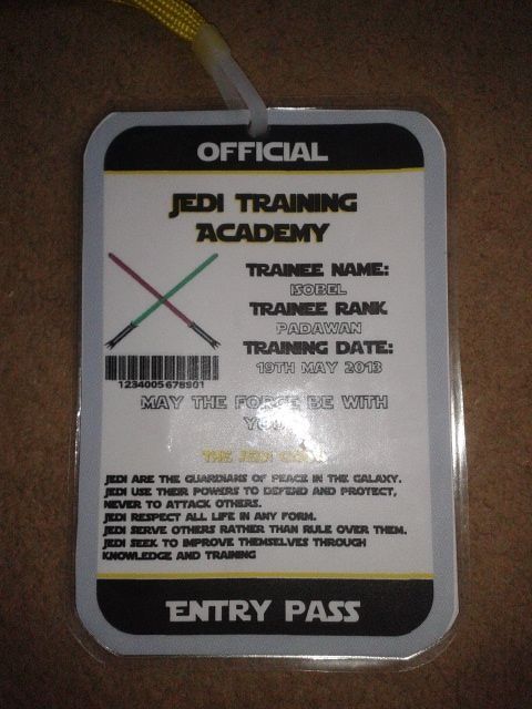 I Made Every Child An Id Badge Event Planning Id Badge Star Wars Party