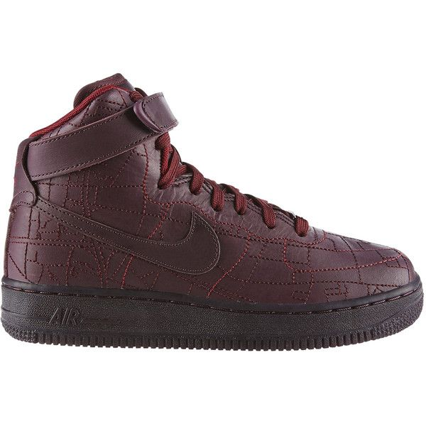 """Nike Air Force 1 High """"Shanghai"""" ($300) ❤ liked on Polyvore featuring shoes, shoe club, women, nike footwear, nike and nike shoes"""