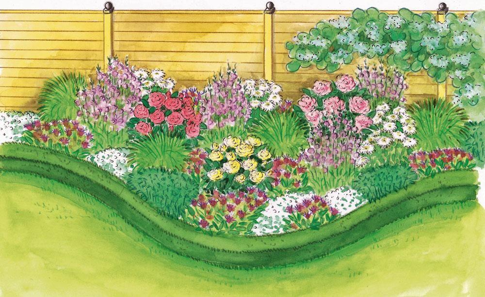 zum nachpflanzen rosen und stauden gekonnt kombiniert gartenideen pinterest bis zum rosa. Black Bedroom Furniture Sets. Home Design Ideas