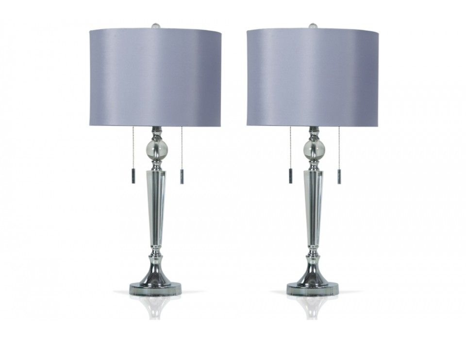 Set of 2 double pull crystal lamps home accents bobs discount furniture