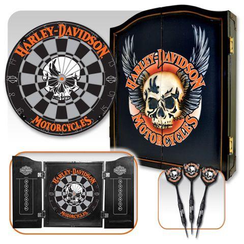 DW 61997   Harley Davidson® 3D Skull Dartboard Darts Kit   Barnett Harley  Davidson®