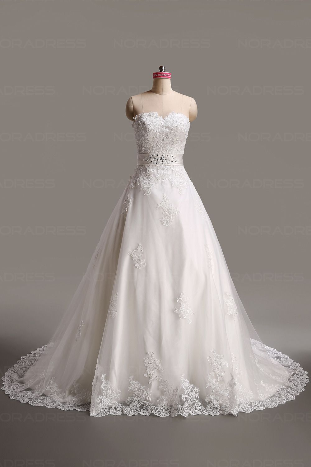 6bc041410 Vestidos de noiva Até ao chão Tecido Transparente Flor do laço Cetim |  Vestidos de Noiva | Wedding dresses, Cheap wedding dresses online, Cheap  wedding ...