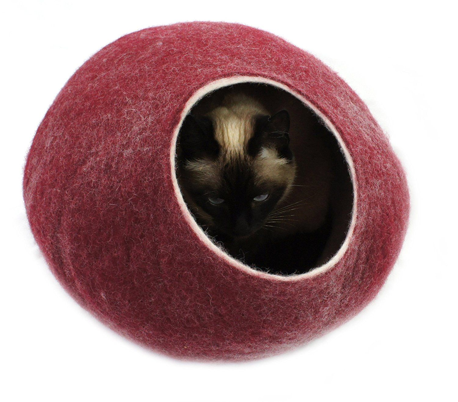 New Cat bed, house, cave. Handmade. Felted. Natural and