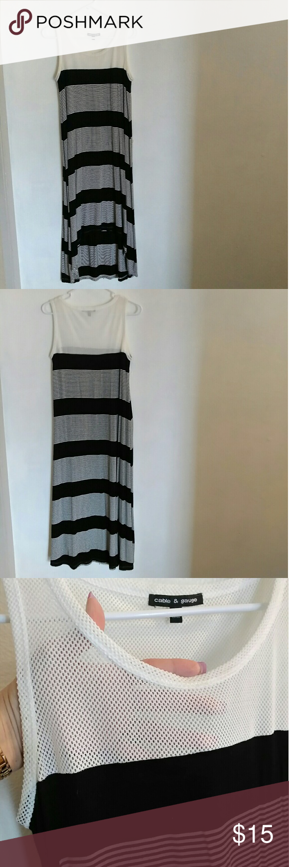 Cable and gauge maxi dress