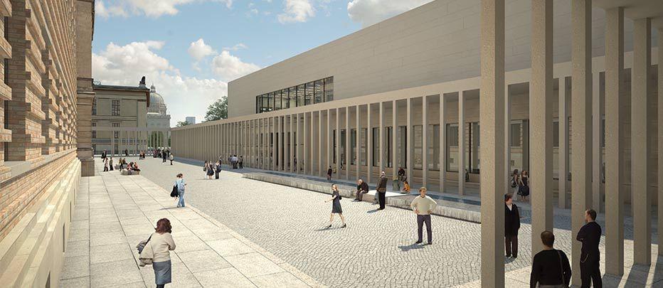 Neuer Hof Masterplan Museumsinsel Projektion Zukunft Contemporary Architecture Architecture Street View