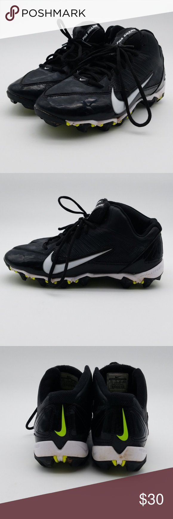 online store 88574 68675 Nike Alpha Sharks 3 4 Football Cleats sz 8.5 A7 Pre-owned good condition