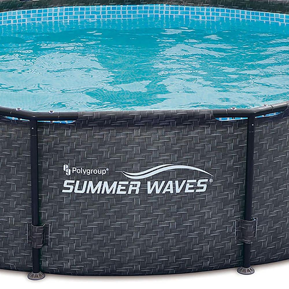 Summer Waves 12 X 33 Above Ground Pool Set W Pump Dark Wicker Garden Outdoor Recepten