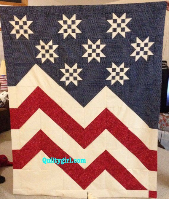 Stars A Waving Patriotic Quilt Pattern Perfect For Beginners To