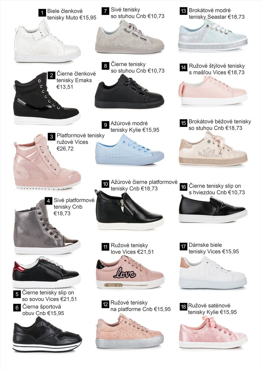 0e38bd9f38e2 Tenisky - Kolekcia obuvi jar leto 2018