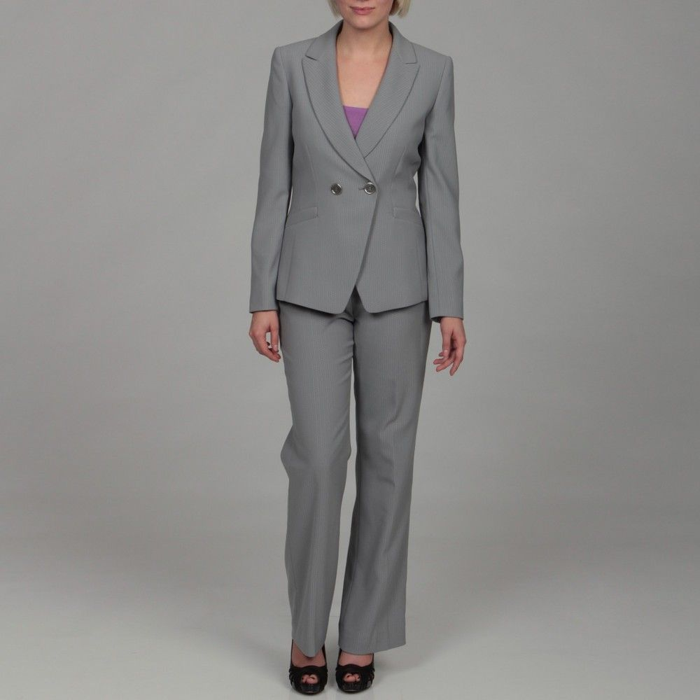 Tahari Women's Grey Double-breasted Pant Suit by Tahari | Dressing ...