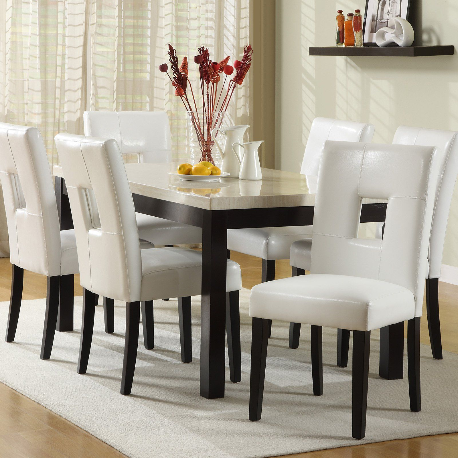 Homelegance Archibald 7 piece White Dining Set 60 in