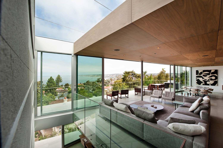 contemporary hillside home floats above its site in la jolla | la