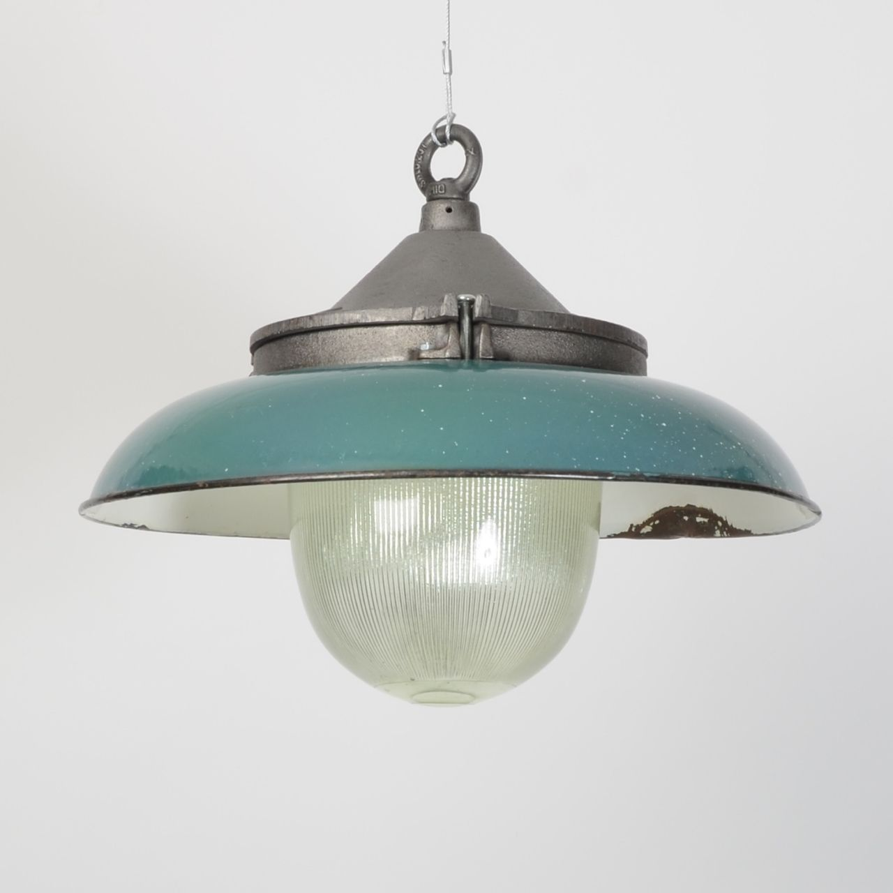 Charming Prismatic Pendant With Shade Turquoise Trainspotters.co.uk   #industrial # Salvage #