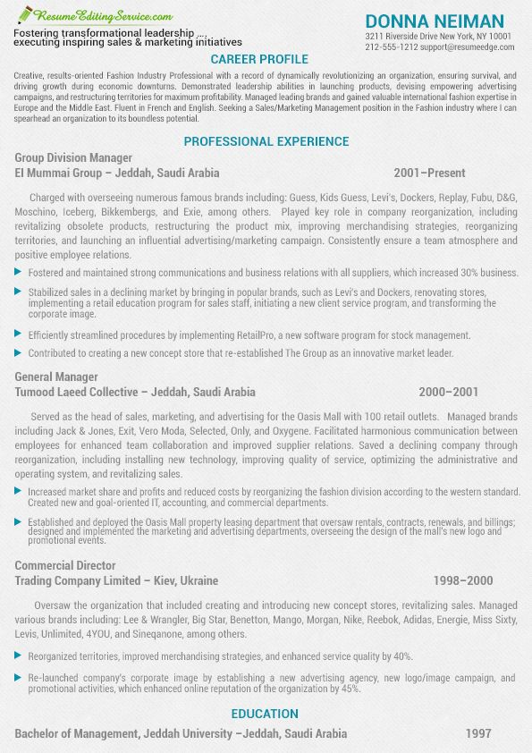 2014 Marketing and sales resume sample Resume Editing Service - Resume Sample 2014