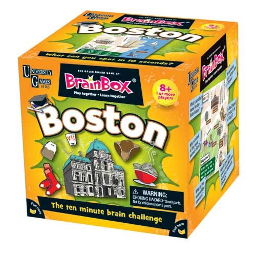 I created illustrations for this game. :) BrainBox - Boston by University Games